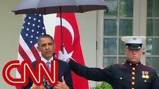 getlinkyoutube.com-Obama asks Marines for umbrellas