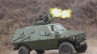 getlinkyoutube.com-Wolf 4x4 armoured personnel carrier live firing test drive China  Shaanxi Baoji Special Vehicles Man