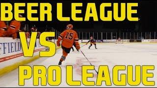 getlinkyoutube.com-Beer League VS Pro League Players - Sheffield Steelers Elite Ice Hockey League
