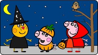 getlinkyoutube.com-Peppa Pig Coloring Pages for Kids ► Peppa Pig Coloring Games ► Peppa Pig Halloween Coloring Book p02