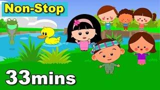 33mins Non-Stop Lagu Kanak Kanak Alif & Mimi (Lirik) Animasi 2D