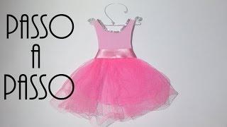 getlinkyoutube.com-Faça você mesma/DIY: Vestidinho de princesa/bailarina