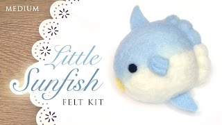 getlinkyoutube.com-DIY Kawaii Sunfish - ASMR Needlefelting Tutorial