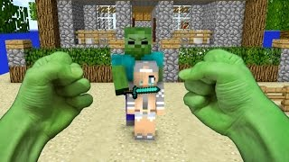 getlinkyoutube.com-REALISTIC MINECRAFT ~ STEVE BECOMES HULK
