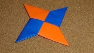 getlinkyoutube.com-como hacer una estrella ninja de papel