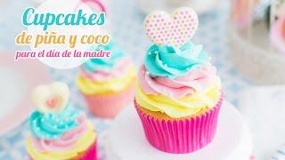 getlinkyoutube.com-Cupcakes de Piña y Coco   Idea día de la madre   Quiero Cupcakes!