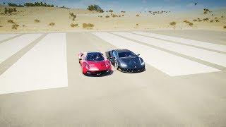 Forza Horizon 3 - Lamborghini CENTENARIO vs Pagani HUAYRA Drag Race!