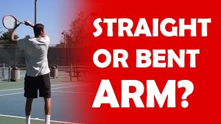 Straight Or Bent Arm On Forehand? | CONTACT POINT TIPS