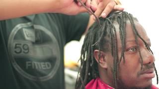 getlinkyoutube.com-Cutting off Dreads | Dreadlocks | MoHawk | Skin Fade | Razor Line Up | Barber | Tutorial | Kv7