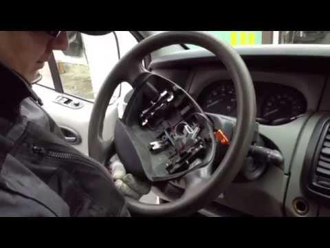 Как снять рулевое колесо Renault Trafic | Remove The Steering Wheel