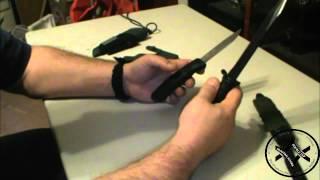 getlinkyoutube.com-Glock Field Knife vs. Mora Bushcraft Survival Knife