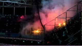 getlinkyoutube.com-Galatasaray - Adana Demirspor | Deplasman Tribünü Meşale Şov | Full HD
