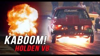 getlinkyoutube.com-Big boost Holden V8 goes BOOM!