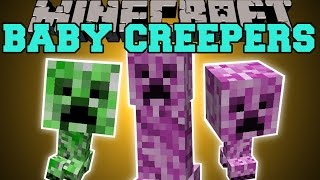 getlinkyoutube.com-Minecraft: BABY CREEPERS MOD (FEMALE CREEPERS, CREEPER ARMOR, & EXPLOSIVE EGGS!) Mod Showcase