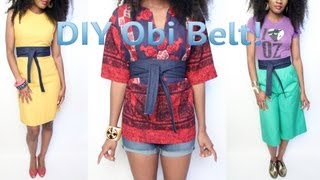 getlinkyoutube.com-1- #GaudyIsGood- How To Make An Obi Belt Out of Old Jeans