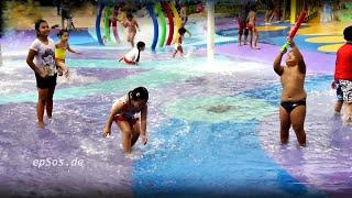 getlinkyoutube.com-Beautiful Children Play on Wet Water Playground.