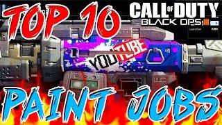 """getlinkyoutube.com-Top 10 """"BEST PAINT JOBS"""" in BLACK OPS 3 - Ep.1 (Top 10 - Top Ten) Call of Duty BO3"""
