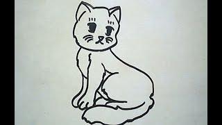 getlinkyoutube.com-How to Draw a Cat (Cara Menggambar Kucing)