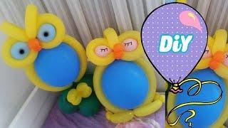 getlinkyoutube.com-Como Fazer Coruja de Balão Tutorial Owl balloon