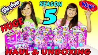 getlinkyoutube.com-SHOPKINS SEASON 5 HUGE HAUL AND UNBOXING - 12 Packs and 5 Packs - New Electric Glow Shopkins