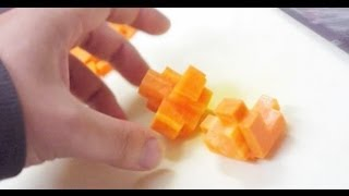 getlinkyoutube.com-ニンジンの飾り切り-ニンジンのパズル Decorative cutting - Puzzle of carrot