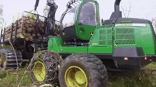 John Deere 1110G, 1210G and 1510G. New G-Series mid-size forwarders