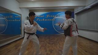 Master Jeong's Taekwondo - The applications of Taegeuk 1 Jang 태권도청지회중동도장