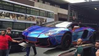 getlinkyoutube.com-Lamborghini Liberty Walk Aventador with ArmyTrix Exhaust - First time in Europe!