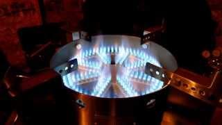getlinkyoutube.com-Blichmann Top Tier Floor Burner Test Fire - Craft Brewing™