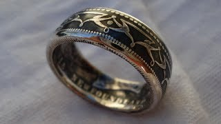 getlinkyoutube.com-How to Contrast a Silver Coin Ring - Patina Finish