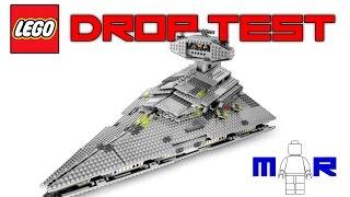 getlinkyoutube.com-LEGO Star Wars Imperial Star Destroyer DROP TEST! (LEGO 6211)