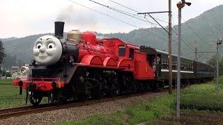 getlinkyoutube.com-大井川鉄道 きかんしゃジェームス号 運行初日 【James the Red Engine Steam Train】
