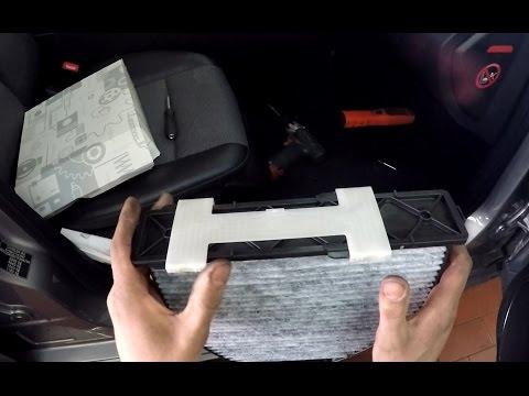 Mercedes-Benz W204, X204, W212 GLK- E-Class - Changing the Cabin Air Filter