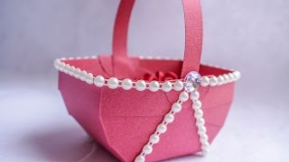 getlinkyoutube.com-Paper Basket | Simple DIY Paper Craft Ideas | HandiWorks #88