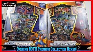 getlinkyoutube.com-Pokemon Cards - Opening BOTH New Premium Collection Boxes featuring Mega Garchomp & Salamence EX