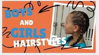getlinkyoutube.com-How To Do Tight Double French Braid Girls Hairstyles