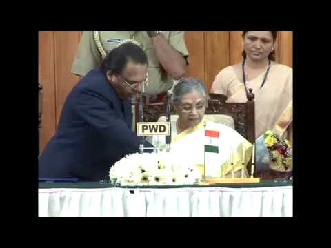 Swearing-In Ceremony of Sheila Dikshit as Kerala Governor