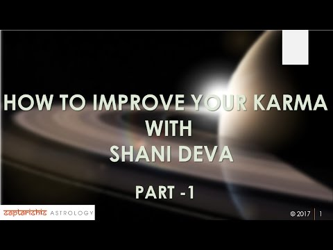 How To Improve Our Karma With SHANI DEVA - Part 1