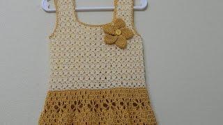getlinkyoutube.com-Vestido Circular Crochet parte 1 de 3