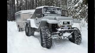 getlinkyoutube.com-Five Trucks Snow Wheeling and Camping North East of Kelowna.
