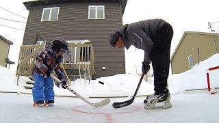 getlinkyoutube.com-GoPro: Father and Son Backyard Hockey Fun