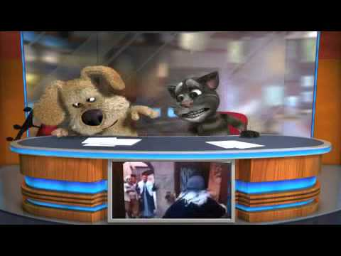 طوشة معتز وابو غالب يقلدها القط توم والكلب بين لن تتوقف عن الضحك
