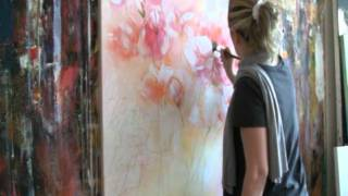getlinkyoutube.com-Floral Painting with acrylic colors Demo , Blumen malen in Acryl