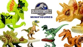 getlinkyoutube.com-Jurassic World LEGO KnockOff Dinosaurs Set 1 Review SL Toys