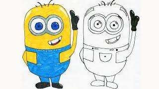 getlinkyoutube.com-Hoe teken ik een Minion - Nederlands - Ik leer je een Minion tekenen