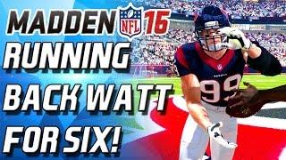 GIVE ME BLOCKS! RUNNING BACK JJ WATT DEBUT! - Madden 16 Ultimate Team -