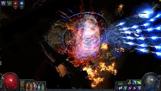 getlinkyoutube.com-Brentorg's OP Path of Exile Nutter Discharger Build Atziri Kill TOP DPS