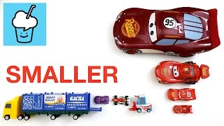 getlinkyoutube.com-Learning smaller and smaller for kids with Cars tomica トミカ