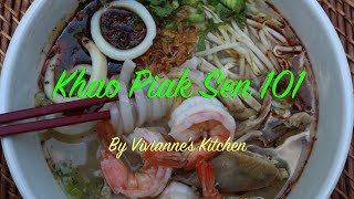 Khao Piak Sen 101, Tapioca Starch and Rice Flour Noodles - Vivianne's Kitchen