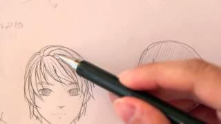 getlinkyoutube.com-درس رسم الشعر (الجزء الأول) how to draw hair part one